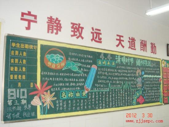 清明节黑板报图片(3)