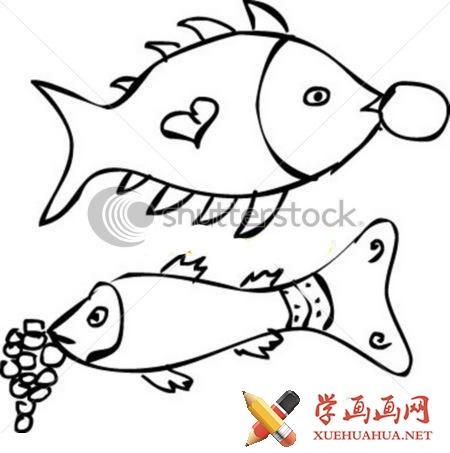 鱼的简笔画图片(1)