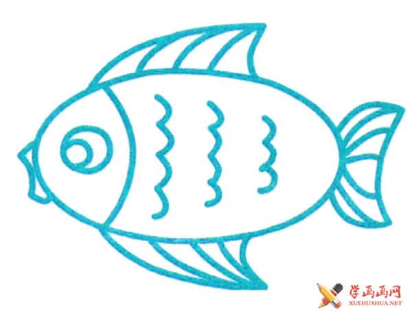 关于鱼的简笔画(1)