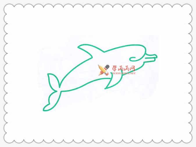 海豚简笔画图片大全(1)