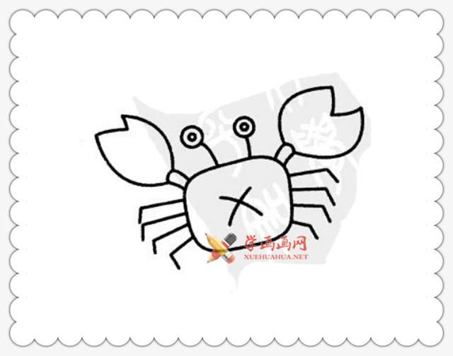 螃蟹简笔画图片6幅(2)