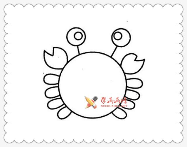 螃蟹简笔画图片6幅(1)