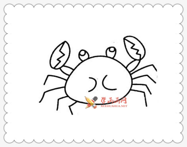 螃蟹简笔画图片6幅(3)