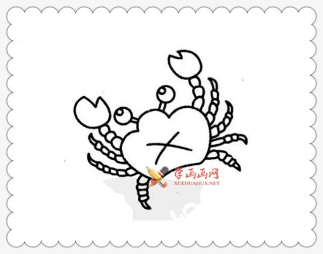 螃蟹简笔画图片6幅(5)