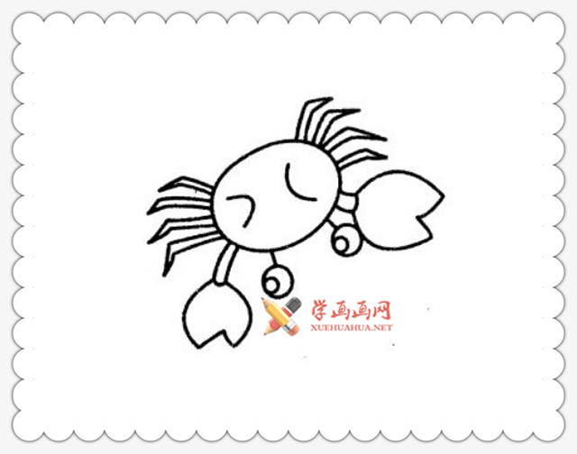 螃蟹简笔画图片6幅(4)