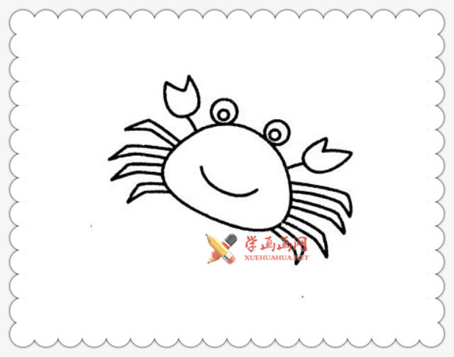 螃蟹简笔画图片6幅(6)