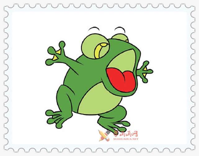 彩色青蛙简笔画图片(1)