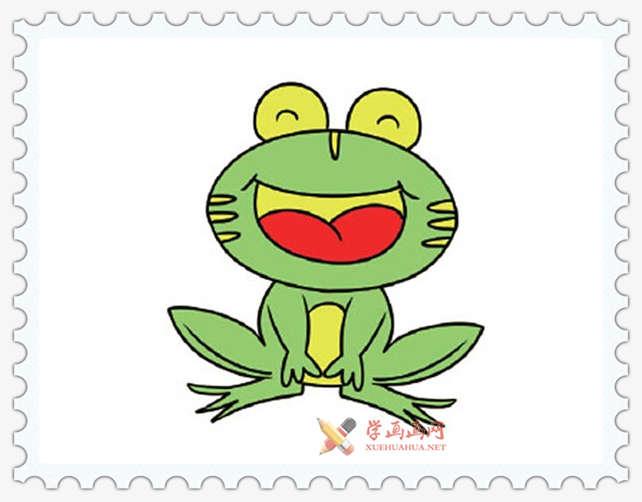 彩色青蛙简笔画图片(2)
