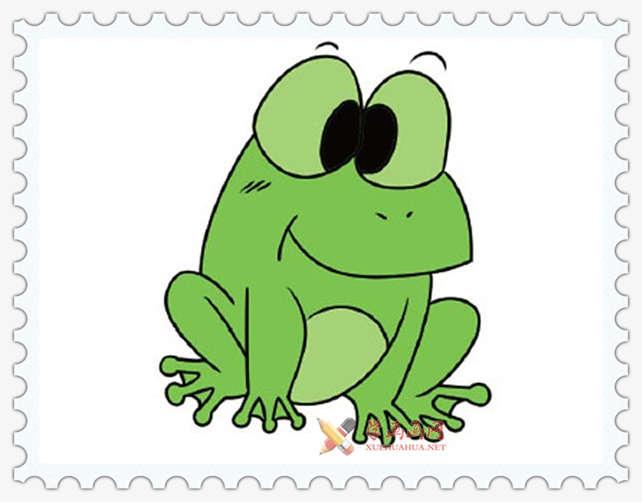 彩色青蛙简笔画图片(6)