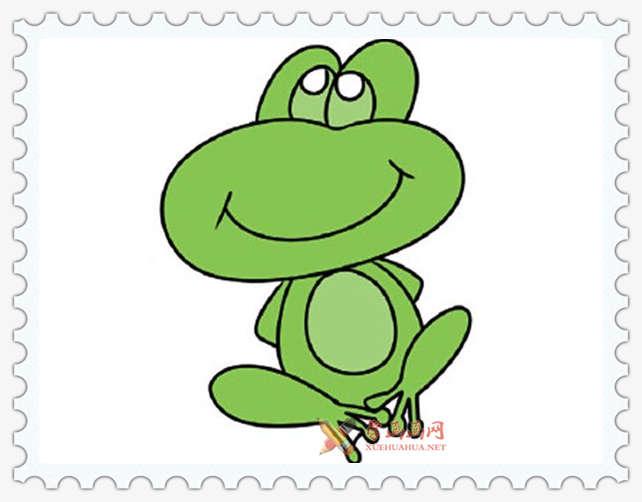 彩色青蛙简笔画图片(5)