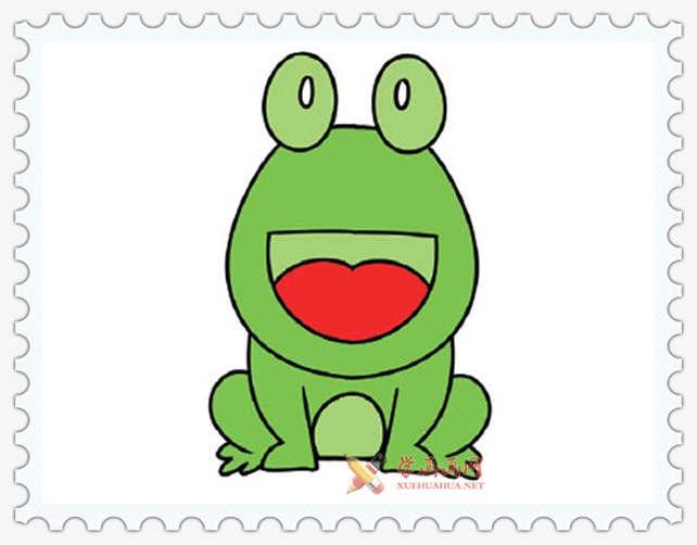 彩色青蛙简笔画图片(7)