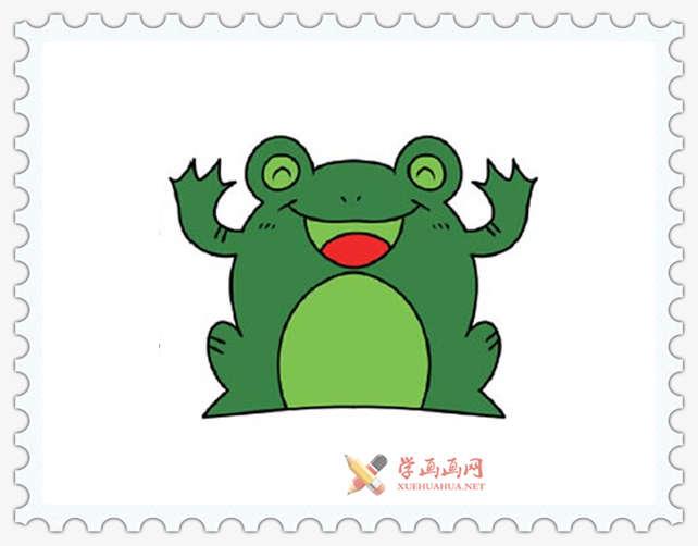 彩色青蛙简笔画图片(8)
