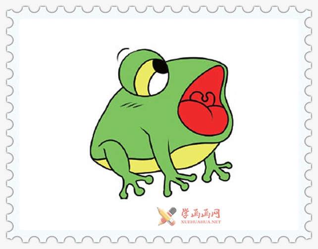彩色青蛙简笔画图片(9)