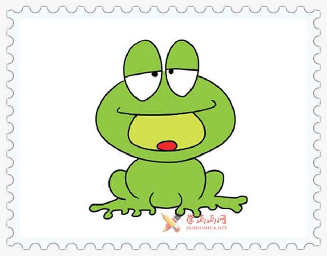 彩色青蛙简笔画图片(12)