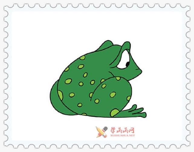 彩色青蛙简笔画图片(11)