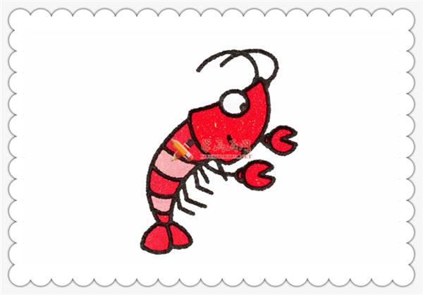 儿童学画画教程:简笔画小龙虾的画法