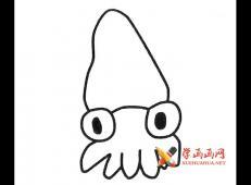 卡通鱿鱼的简笔画画法图片【5幅】