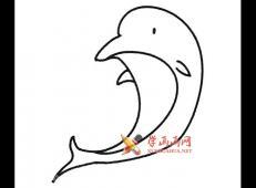 6种海豚的简笔画画法素材大全
