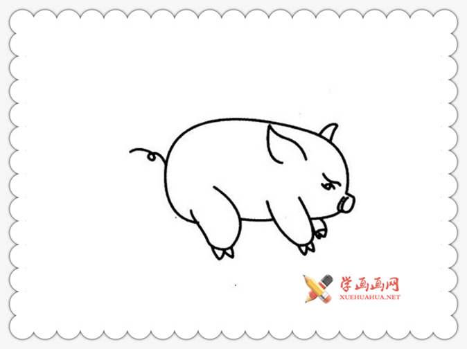 儿童学画画:怎么画猪