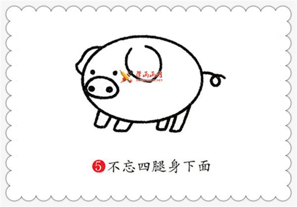 简笔画猪的画法教程