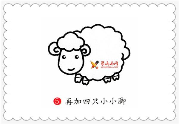 儿童学画画:小绵羊简笔画画法教程