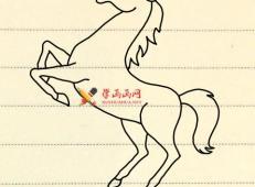 简笔画马的画法教程
