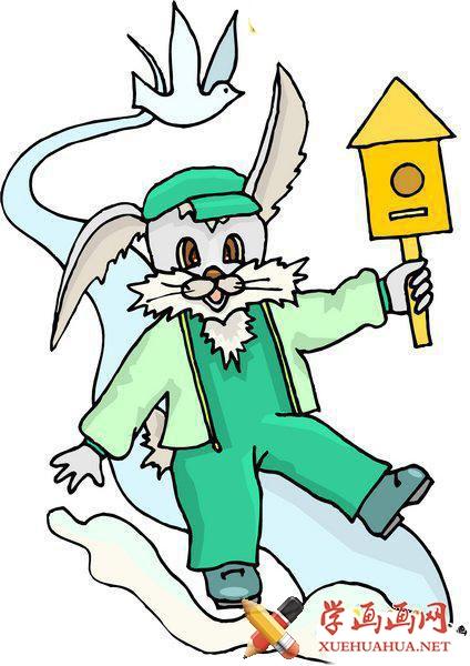 小白兔简笔画图片1张_怎么画兔子