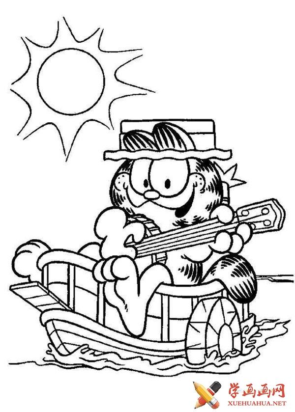 加菲猫简笔画图片(10)