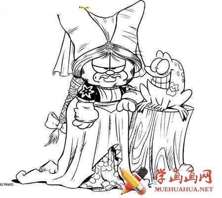 加菲猫简笔画图片(3)