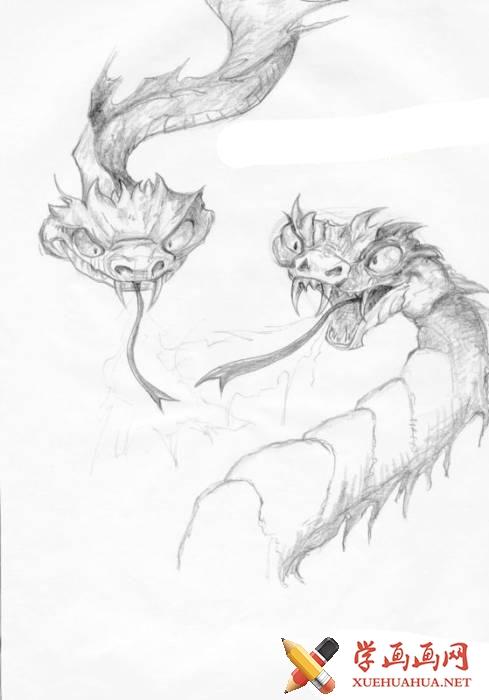 龙的简笔画画法图片一张