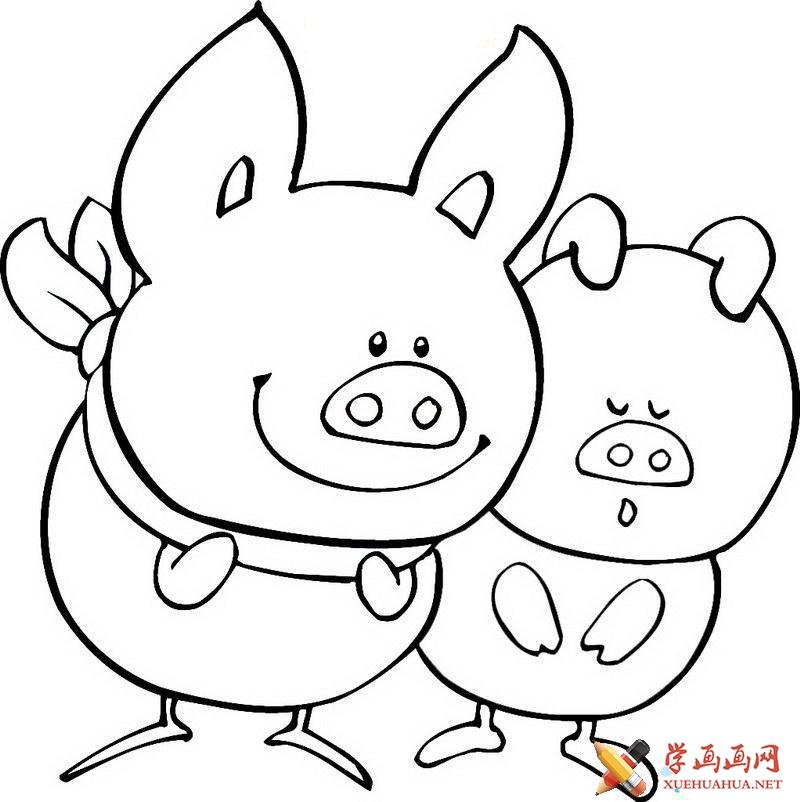 怎么画小猪(1)