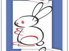 通过数字学画画:超简单的兔子简笔画画法