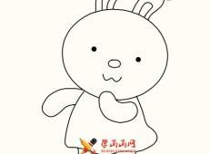 儿童学画画:可爱的卡通小兔子简笔画教程