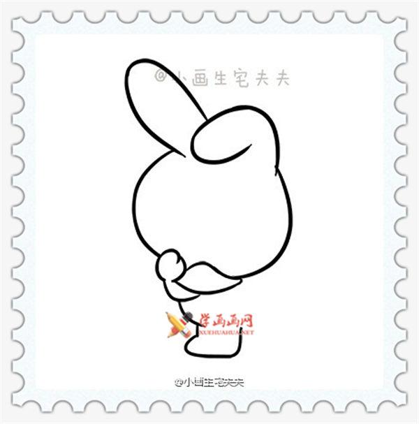 简笔画melody兔子的画法