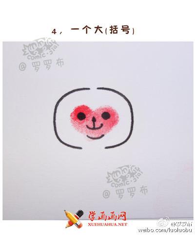 教你用手印画简笔画 猴子的画法