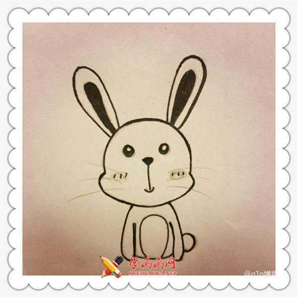 儿童学画画:呆萌小兔子简笔画教程