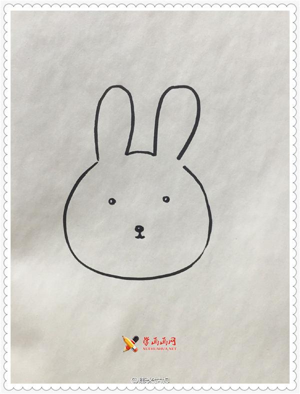 卡通小兔子简笔画教程