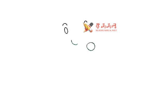戴眼镜的卡通小老鼠的简笔画教程(2)