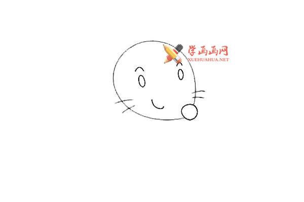 戴眼镜的卡通小老鼠的简笔画教程(3)
