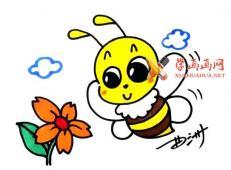 彩色的蜜蜂的简笔画画法教程赏析