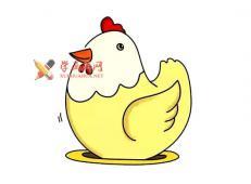 母鸡的简笔画画法教程赏析【彩色】