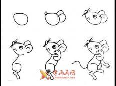 简单的步骤教你画小老鼠的简笔画
