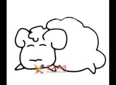 绵羊的简笔画画法图片赏析