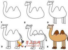 一组简单的动物的简笔画画法教程【彩色】