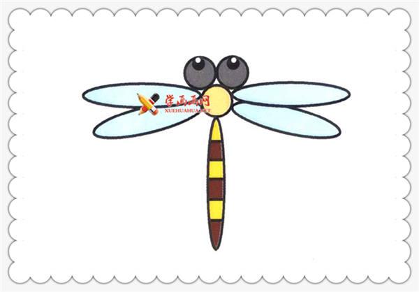 完成的简笔画蜻蜓图片