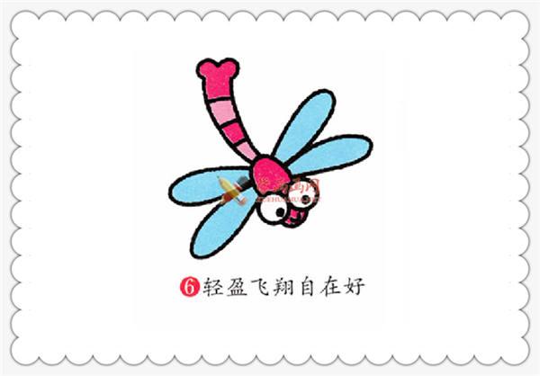 简笔画教程:蜻蜓的画法