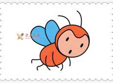 儿童简笔画教程:小蜜蜂的画法
