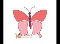 三幅彩色蝴蝶的简笔画画法图片