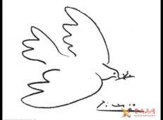 和平鸽简笔画_毕加索和平鸽图片欣赏