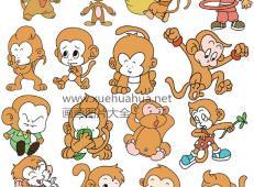 猴子简笔画_卡通猴子图片大全